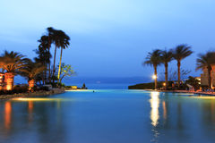 Dead Sea at dusk on the Jordan side Royalty Free Stock Photography