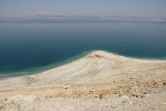 Dead Sea Views of Desert. The Dead Sea Hebrew: יָם הַמֶּלַח‎ About this sound Yam ha-Melah lit. Salt Sea, Arabic: البحر الميت‎‎ About Royalty Free Stock Photo
