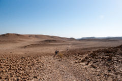 Dead sea hiking Stock Photo