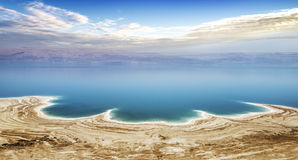 Dead sea in Israel. Famous Dead sea view in Israel with Jordania coast stock photo