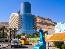 resort on the Dead Sea, a therapeutic health resort in a natural pond royalty free stock photo