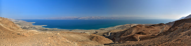 Dead sea in Israel. Panorama of Dead Sea in January Stock Image