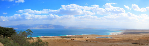 The Dead Sea, Israel. A panoramic view of the Dead Sea in the Yehuda desert, Israel Royalty Free Stock Photo