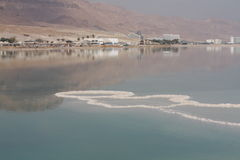 The Dead Sea, Israel, sea salt. Travel, Hotels, holiday, vacation at the Dead Sea, salt water cures everything Royalty Free Stock Images