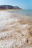 Dead Sea in Israel. View of Dead Sea coastline Royalty Free Stock Photos