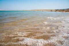 Dead Sea in Israel. View of Dead Sea coastline Stock Photos