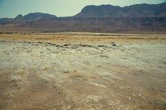 Dead Sea in Israel. View of Dead Sea coastline Stock Photo