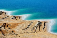 Dead Sea, Jordan. The beautiful salt beach along the Dead Sea in Jordan Royalty Free Stock Image