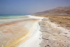 Dead Sea in Jordan, Israel. Salt coast of the Dead Sea in Jordan Royalty Free Stock Image