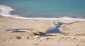 Dead Sea in Jordan, Israel. Salt coast of the Dead Sea in Jordan Stock Image