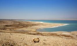 Dead Sea in Jordan, Israel. Salt coast of the Dead Sea in Jordan Stock Photography
