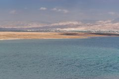 Dead Sea left view closer Stock Photo