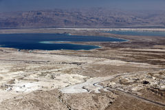 Dead sea and Jordan Mt, view of ancient city Masada, Israel Stock Images