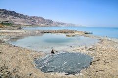 Dead Sea landscape. View on conversions of the Dead Sea coast Stock Images
