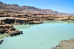 Dead Sea landscape. View on conversions of the Dead Sea coast Royalty Free Stock Photography