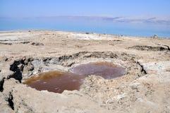 Dead Sea landscape. View on conversions of the Dead Sea coast Stock Image