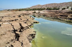 Dead Sea landscape. View on conversions of the Dead Sea coast Royalty Free Stock Photos