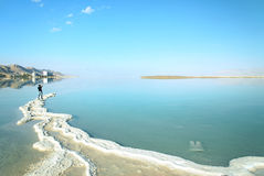 Dead Sea landscape. On a summer day Royalty Free Stock Image