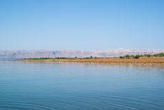 Dead Sea landscape view Israel coast Royalty Free Stock Photo