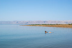Dead Sea landscape view Israel coast Royalty Free Stock Images