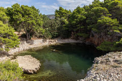 Dead Sea at the Lokrum Island in Croatia Royalty Free Stock Image