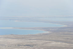 Dead Sea from Masada. View of desert and Dead Sea from Masada, Israel Royalty Free Stock Photos