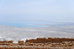 Dead Sea from Masada. View of desert and Dead Sea from Masada, Israel Royalty Free Stock Images