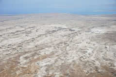 Dead Sea from Masada. View of desert and Dead Sea from Masada, Israel Stock Images