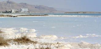 Dead sea mineral coast panorama. Royalty Free Stock Image