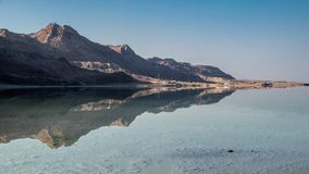 Dead Sea mountains reflection royalty free stock images