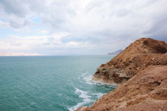 Dead Sea and the mountains, the waves be Royalty Free Stock Image