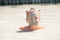 Dead Sea Mud bath Treatment Stock Images