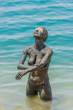 Dead sea mud body care treatment jordan Royalty Free Stock Photos
