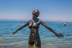 Dead sea mud body care treatment jordan Stock Image