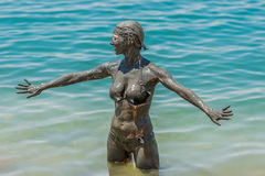 Dead sea mud body care treatment jordan Stock Images
