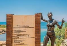 Dead Sea mud body care treatment Jordan Royalty Free Stock Photography