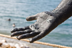 Dead sea mud - Jordan royalty free stock photo