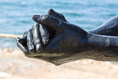 Dead sea mud - Jordan Stock Image