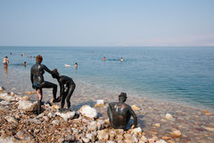 Dead Sea Mud Lovers Royalty Free Stock Image