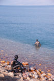 Dead Sea Mud Lovers Royalty Free Stock Photography