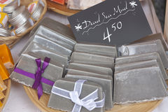 Dead sea mud soaps Stock Image