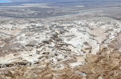 Dead Sea plain panorama. Royalty Free Stock Image