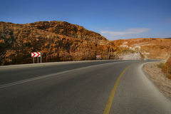 Dead Sea Road. Scenic view of Dead Sea Road, Amman, Jordan Royalty Free Stock Photo