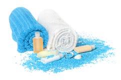 Dead sea salt blue Stock Photo