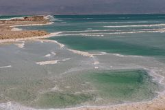 Dead Sea Beach. royalty free stock photography
