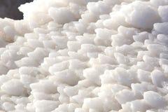 Dead Sea salt deposits stones. White crystals stock photo