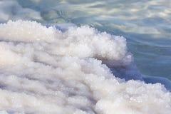 Dead Sea salt deposits stones. White crystals royalty free stock photos