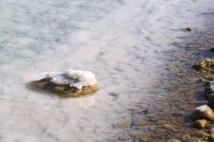 Dead Sea salt formation Stock Photo
