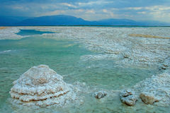 Dead Sea salt formations Stock Images