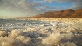 Dead Sea salt. Israel.  stock footage